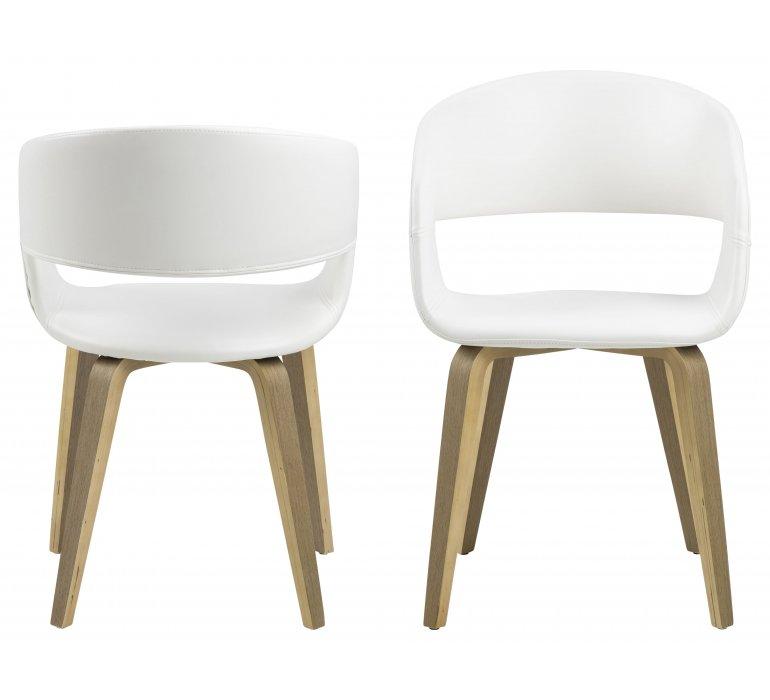 chaise scandinave blanche design lot de 2 allen
