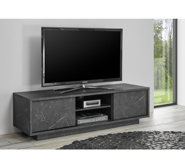 meuble tv moderne gris marbre olympe