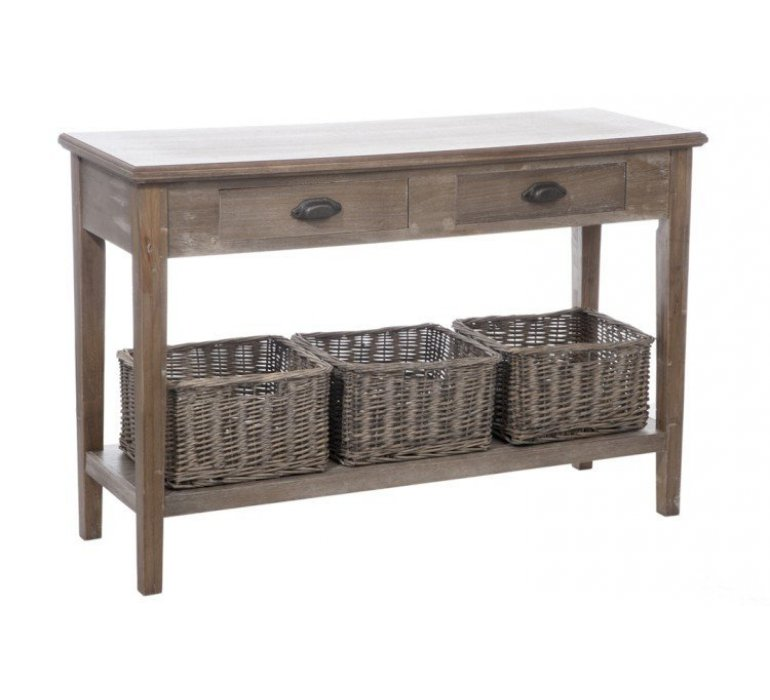 console bois clair style charme meredith