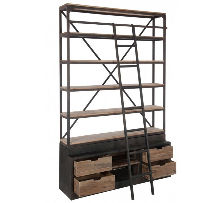 etagere avec echelle style industriel ladder