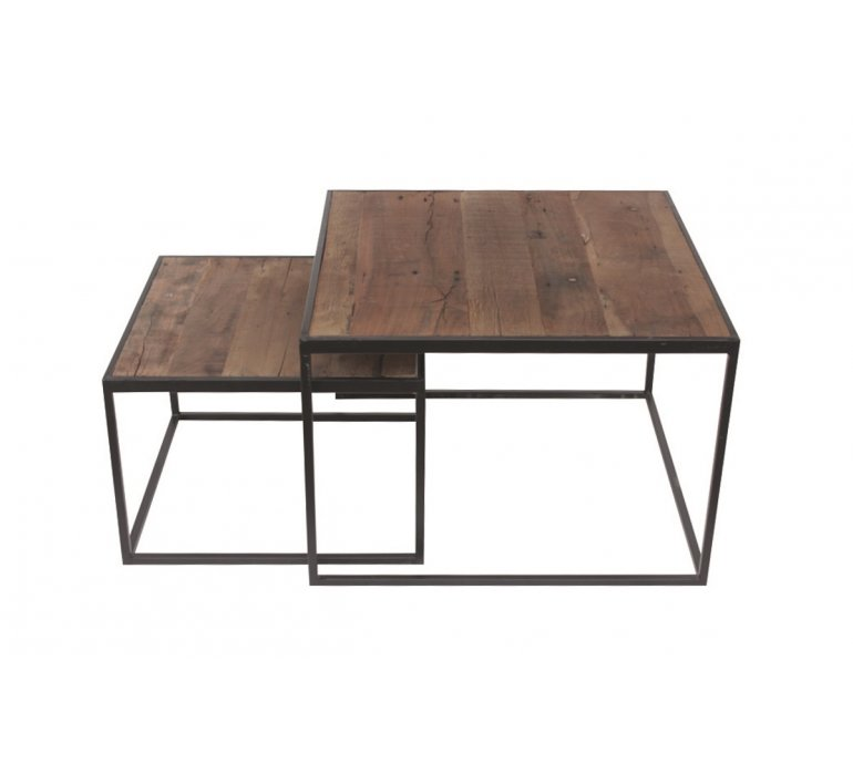 table basse carree gigogne industrielle jersey