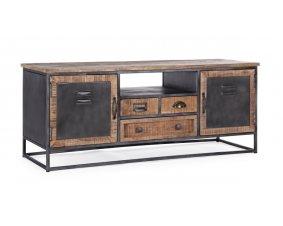 meuble tv industriel en bois et metal
