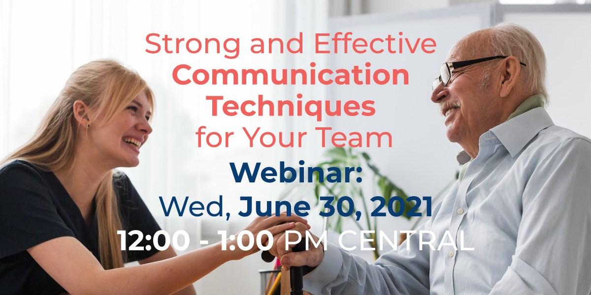 Strong an Effective communication techniques Webinar