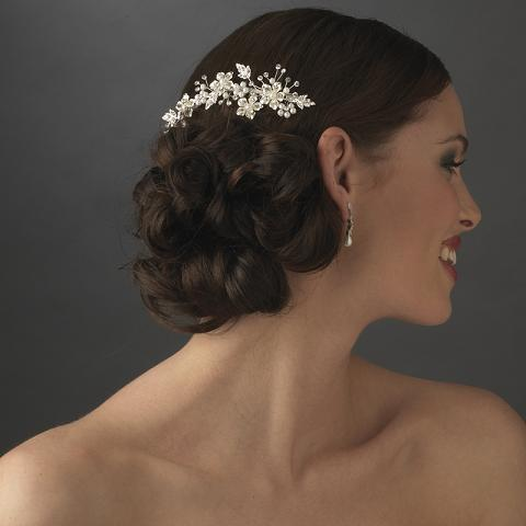 elegant bridal pearl hair b accent b 039 gold