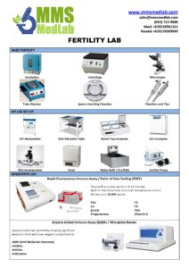 MMS Catalogue for Fertility   MMS Medical and Laboratory