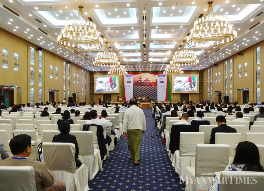 The Myanmar Global Investment Forum takes place on September 11 and 12 in Nay Pyi Taw. Thompson Chau/ The Myanmar Times
