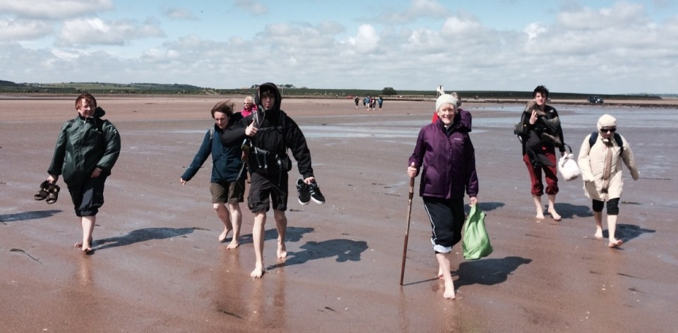 UK Companions on their Yearly Pilgrimage to Holy Island