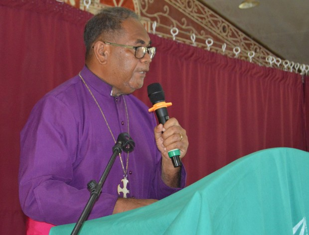 Bishop Quiti making his address