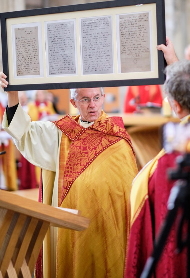 Archbishop Justin Welby - Exeter Cathedral - Patteson's Letter
