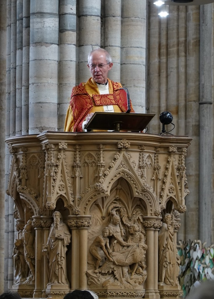 Archbishop Justin Welby - Exeter Cathedral - Preaching