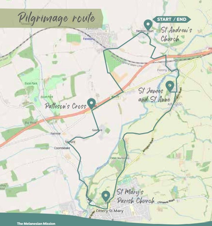 Patteson's Way Pilgrimage 4 Stage Route Map