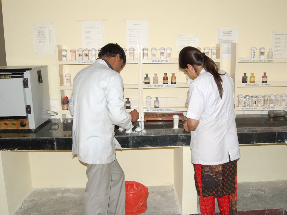 Heamatology Lab - Provides all basic haematological investigations for patients and training students.