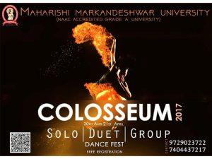 Colloseum 2017 – Intra University Dance Competitions