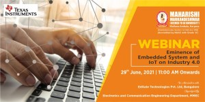 Webinar: Eminence of Embedded System and IoT on Industry 4.0