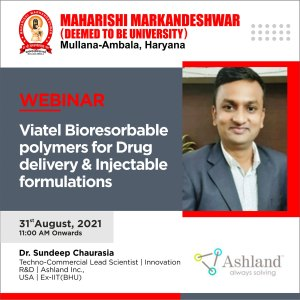 Webinar: Bioresorbable polymers for Drug delivery & Injectable formulations
