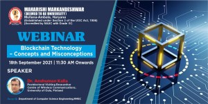 International Webinar on Blockchain Technology – Concepts and Misconceptions