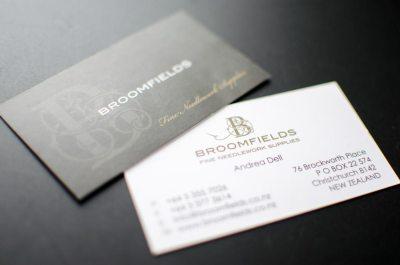 Broomfield's business card