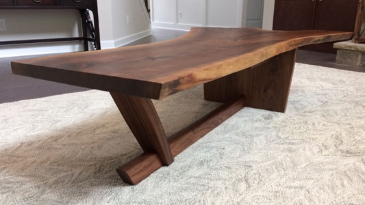 Gentil Nakashima Inspired Coffee Table