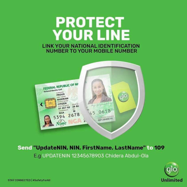 Link your Glo number to your NIN