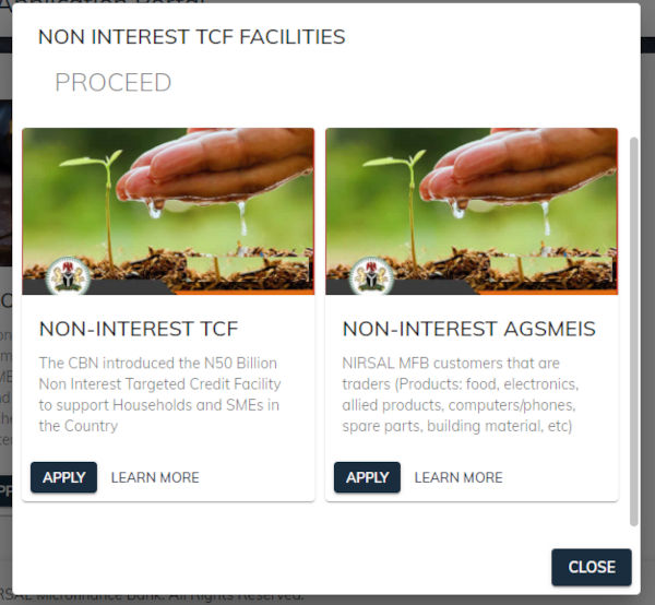 How To Apply For CBN NIRSAL Non Interest Facilities Loan 11 1