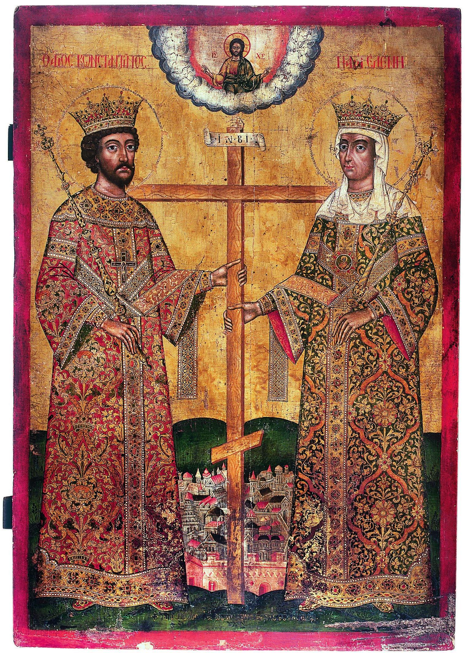 Icoană - Sfinţii Împăraţi Constantin şi Elena