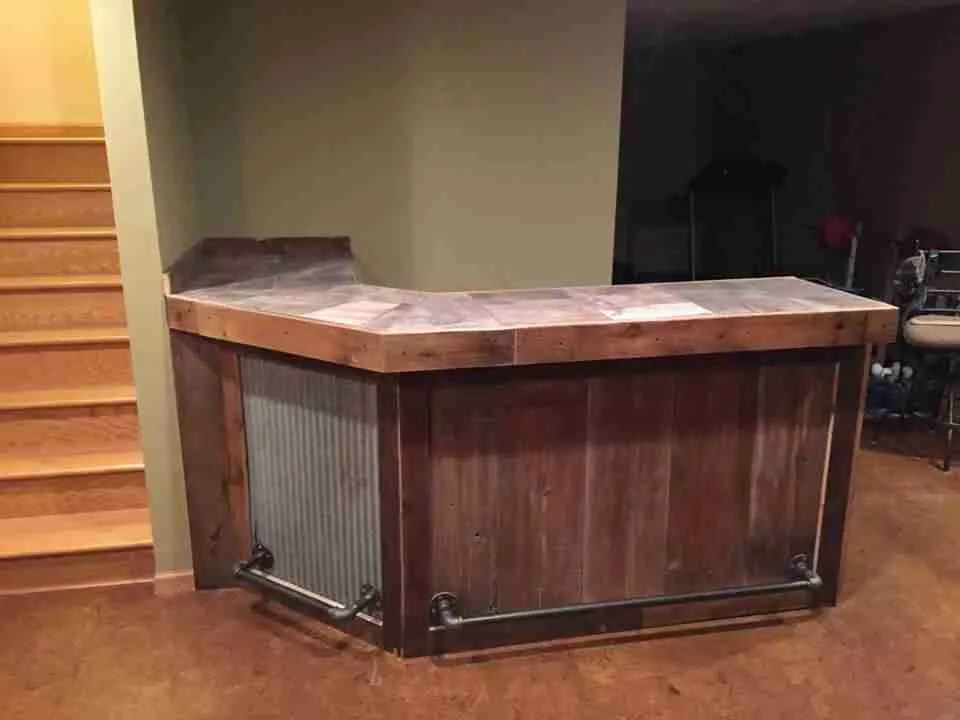 MN Raw Barnwood Custom Bar
