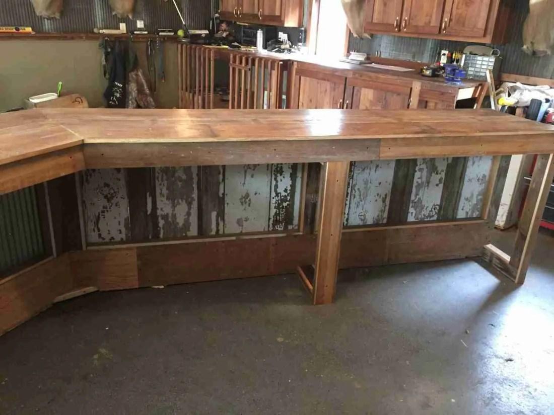 Custom Barnwood Bars Made In Minnesota from reclaimed barnwood