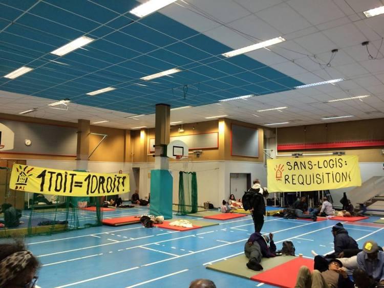 Raffut de soutien-occupant-e-s du gymnase Roquépine