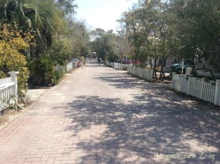 Seaside Florida streets