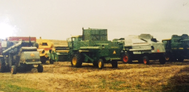 Lineup of combines 29 years ago