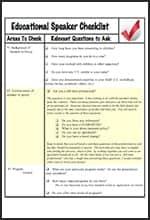 New Speaker Checklist