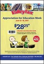 2017 Appreciation for Education Week flier