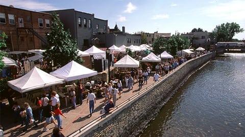 art festival along river