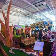 artist-inspired mini golf in former canning factory.