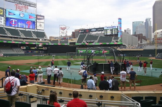 Fans at Target Field