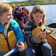Kids in canoe