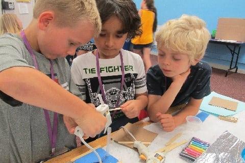 Kids doing science