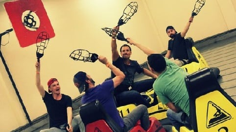 Whirly ball players