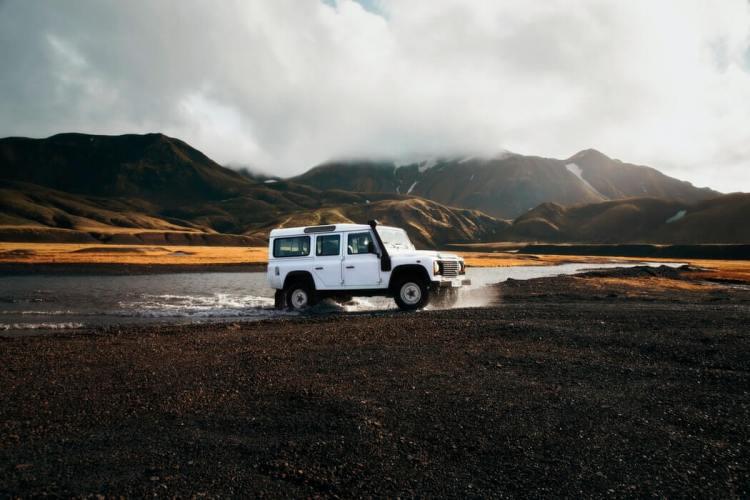 Landrover in IJsland