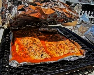 Salmon on the pit
