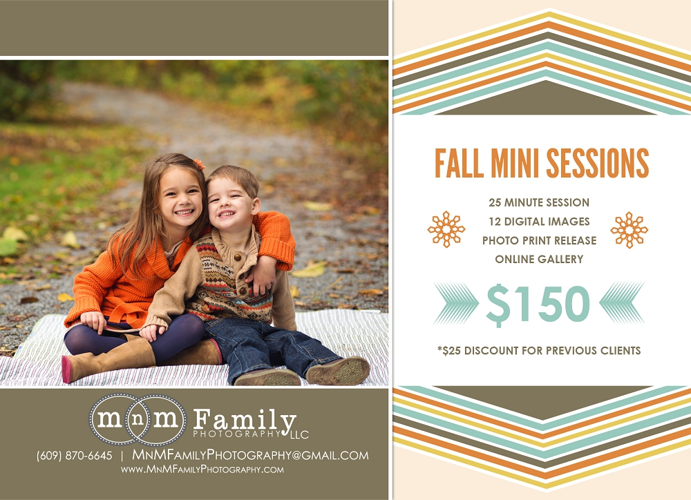 Fall Mini Sessions Chester County Family Photographer