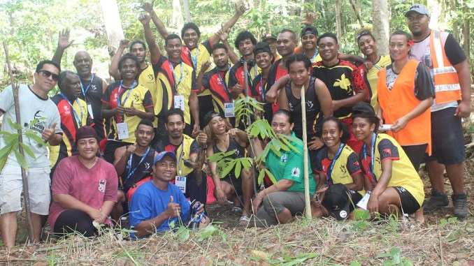3,235 Samoan Native Trees Planted by Athletes of the XVI Pacific