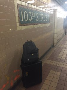 Taking the scanning kit & backpack to METRO host institution New York Academy of Medicine
