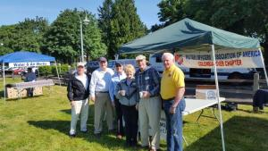 Memorial Day 2016 at Ft Vancouver Barracks. L-R. Dan Sockle, Rodney Williams, Dave Casteel, Evelyn and Jim Brady, John Donnelly