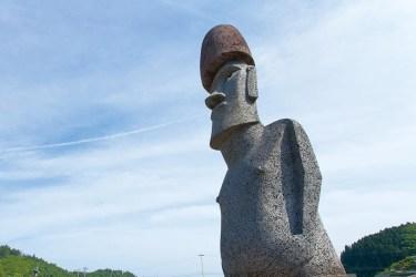 本物のモアイ像は、さんさん商店街から車で5分【キラキラ丼完食後は、モアイを観に来てチョ!】