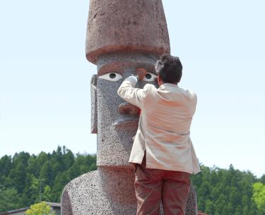 モアイ像が日本の南三陸町に!?本物?目がある理由は?