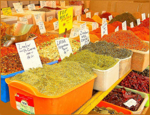Spices at Shuk HaCarmael