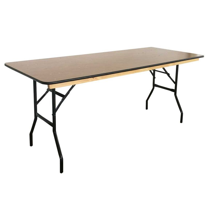 table pliante en bois 180 cm lot de 10