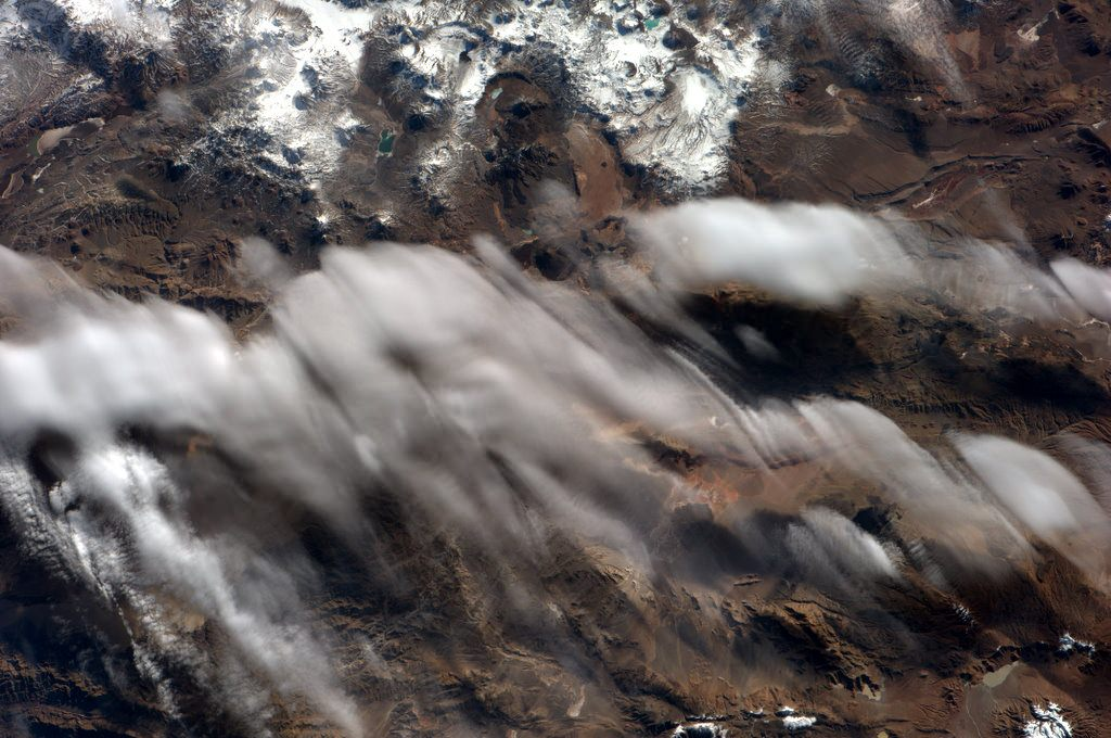 Spooky Clouds Over The Andes Mountain