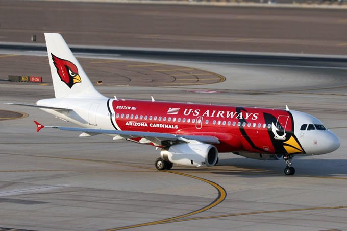 us airways football fan paint